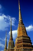 Travel photography:The three giant stupas at Wat Pho, Thailand