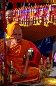Travel photography:Monk at a festival in Trang, Southern Thailand, Thailand