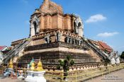 Travel photography:Wat Chedi Luang Worawihan in Chiang Mai, Thailand