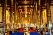 Travel photography:Interior of the Wat Chedi Luang Worawihan temple in Chiang Mai, Thailand