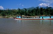 Travel photography:Passenger boat on the Mekong River, Thailand