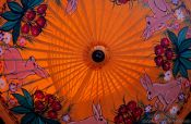 Travel photography:Finished parasol at the Bo Sang parasol factory, Thailand