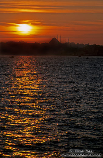 Sunset over the Bosporus