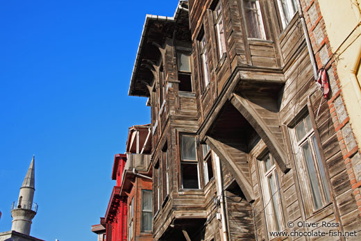 Traditional wooden Ottoman houses in Sultanahmet district