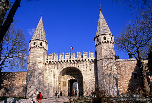 Main entrance gate to the Topkapi palace