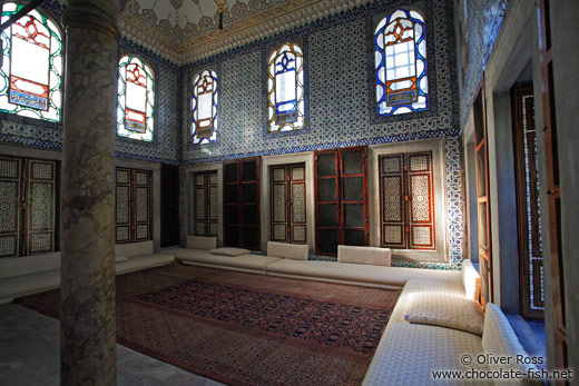 Inside the main library of the Topkapi Palace