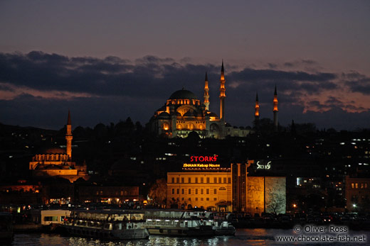 View of Süleymaniye Mosque from the Galata Bridge
