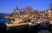 Travel photography:Harbour of Anadolu-Kavagi on the Bosporus near the Black Sea, Turkey