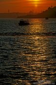 Travel photography:Sunset over the Bosporus, Turkey
