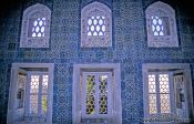 Travel photography:Windows of a Topkapi palace building, Turkey