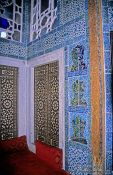 Travel photography:Wall detail with tiles in the main library of the Topkapi Palace, Turkey