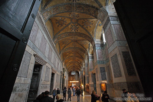 Main gallery within the Ayasofya (Hagia Sofia)