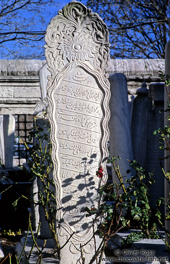 Tomb stone outside the Süleymaniye Mosque
