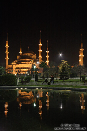 Sultanahmet (Blue) Mosque by night