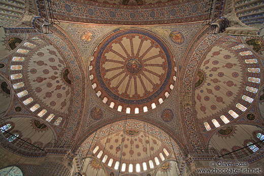 Roof cupolas of the Sultanahmet (Blue) Mosque