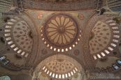 Travel photography:Roof cupolas of the Sultanahmet (Blue) Mosque, Turkey