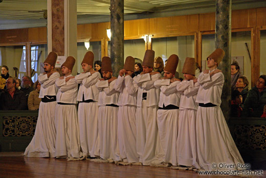 Derwish dancers at the Mevlevi convent in Galata