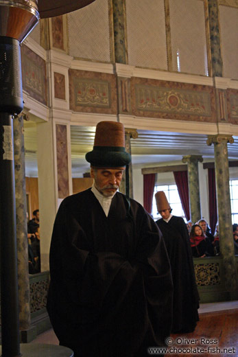 Derwish priest at the Mevlevi convent in Galata