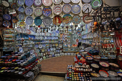 Ceramic shop at the Grand Basar in Istanbul