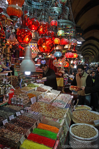 Shop at the Egyptian (Spice) Basar in Istanbul