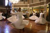 Travel photography:Derwish dancers at the Mevlevi convent in Galata, Turkey