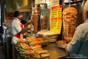 Travel photography:Kebap vendor at the Egyptian (Spice) Basar in Istanbul, Turkey