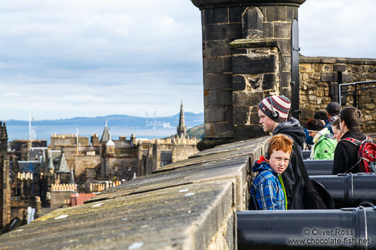 Visitors at Edinburgh castle