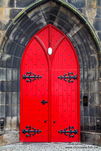 Edinburgh church door