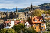 Travel photography:View of Edinburgh from the castle, United Kingdom