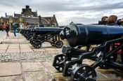 Travel photography:Cannons in Edinburgh castle, United Kingdom