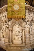 Travel photography:Altar carving in in Edinburgh cathedral, United Kingdom