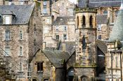 Travel photography:Houses in Edinburgh old town, United Kingdom