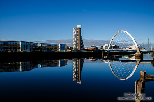 River Clyde with bridge and the Clyde Arc
