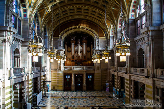 The interior of the Glasgow Kelvingrove Gallery and Museum