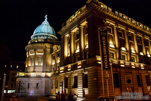 Glasgow`s Mitchell Library by night