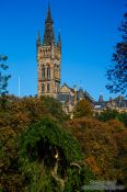 Travel photography:Glasgow University building in Kelvingrove Park, United Kingdom