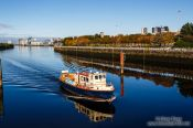 Travel photography:Boat on the River Clyde in Glasgow, United Kingdom