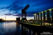 Travel photography:Glasgow River Clyde by night, United Kingdom