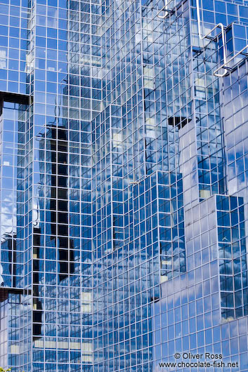 Modern glass facade in London