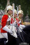Travel photography:Horse guards parading outside London´s Buckingham Palace, United Kingdom, England