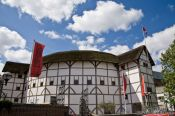 Travel photography:Shakespeare´s Globe theatre in London, United Kingdom, England
