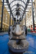 Travel photography:Sculpture inside the Hay´s Galleria in London, United Kingdom, England