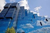 Travel photography:Modern glass facade in London, United Kingdom, England