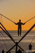 Travel photography:Trampoline jumping in Brighton, United Kingdom England