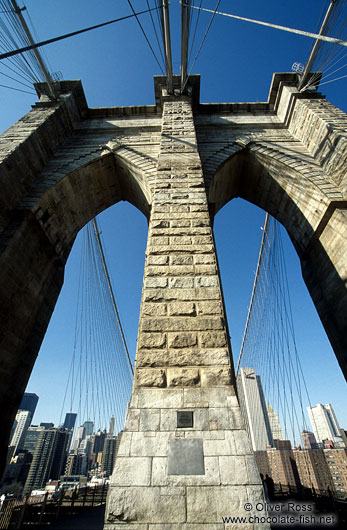 New York Brooklyn Bridge Close-up