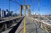 Travel photography:New York Brooklyn Bridge with City, USA