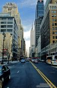 Travel photography:New York`s New Yorker with Empire State, USA