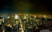 Travel photography:New York by night, USA