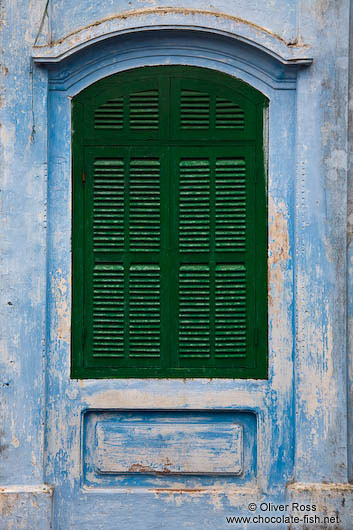 Window at a Chinese assembly hall in Hoi An