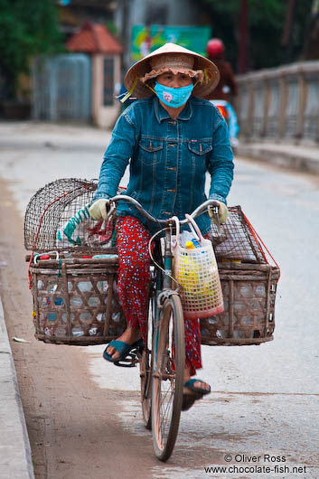Hoi An woman on bike